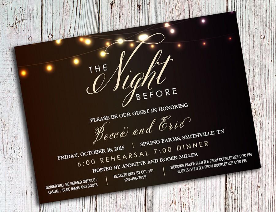 Romantic invitation to dinner