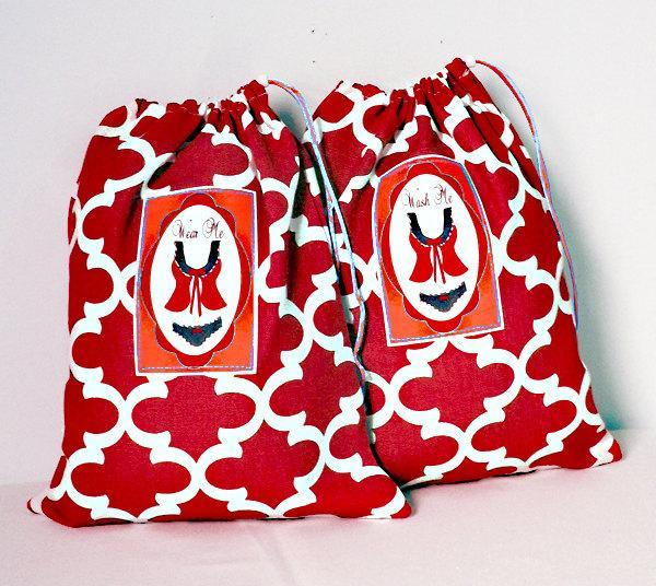 Bridesmaid Gift Bags, Lingerie Bags, Wash Me Wear Me, 2 Pack Set ...