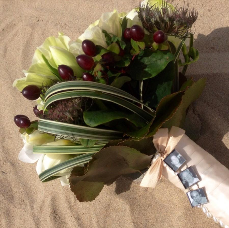 Mariage - Three Photo Bouquet Charm