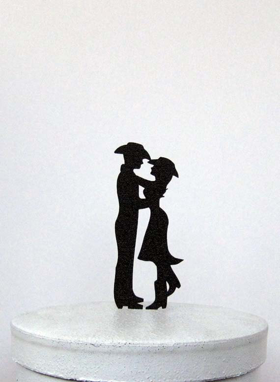 Свадьба - Wedding Cake Topper - Country & Western wedding 2