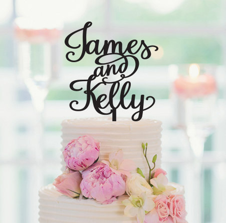 Personalized wedding decorations personalized cake topper bride personalized wedding decorations personalized cake topper bride and groom names custom cake topper wedding cake topper sweets table junglespirit Gallery