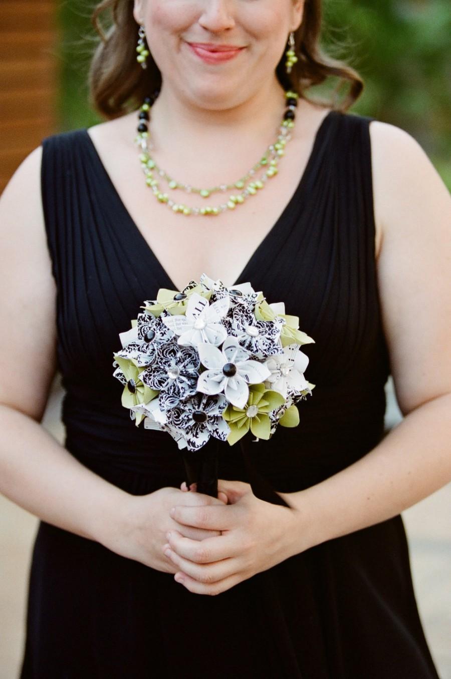 زفاف - Unique Alternative Untraditional Trendy Paper Flower Wedding Bouquet