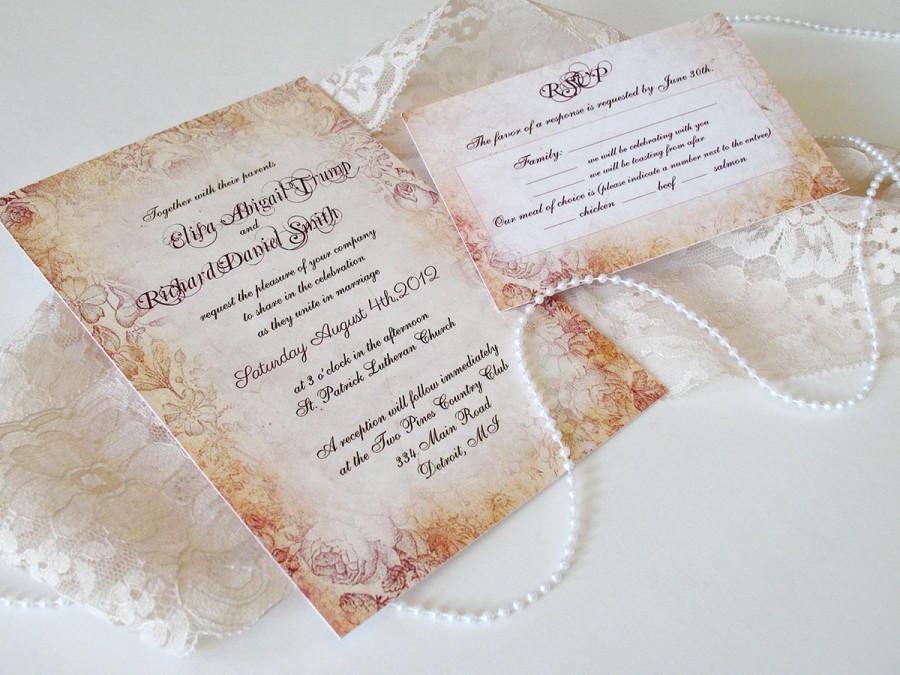 زفاف - Wedding Invitations - Spring Vintage Wedding Invitation - Vintage Wedding Invitation {Cleveland design}