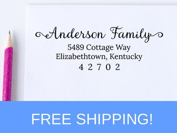 زفاف - Return Address Stamp - Address Stamp - Self Inking Address Stamp - Personalized Stamp   (D139)