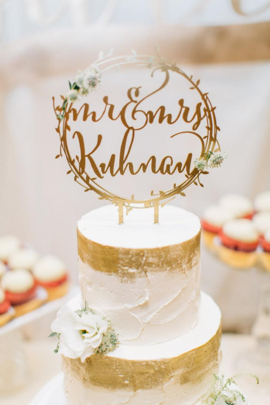 Laser Cut One Gold Cake Topper
