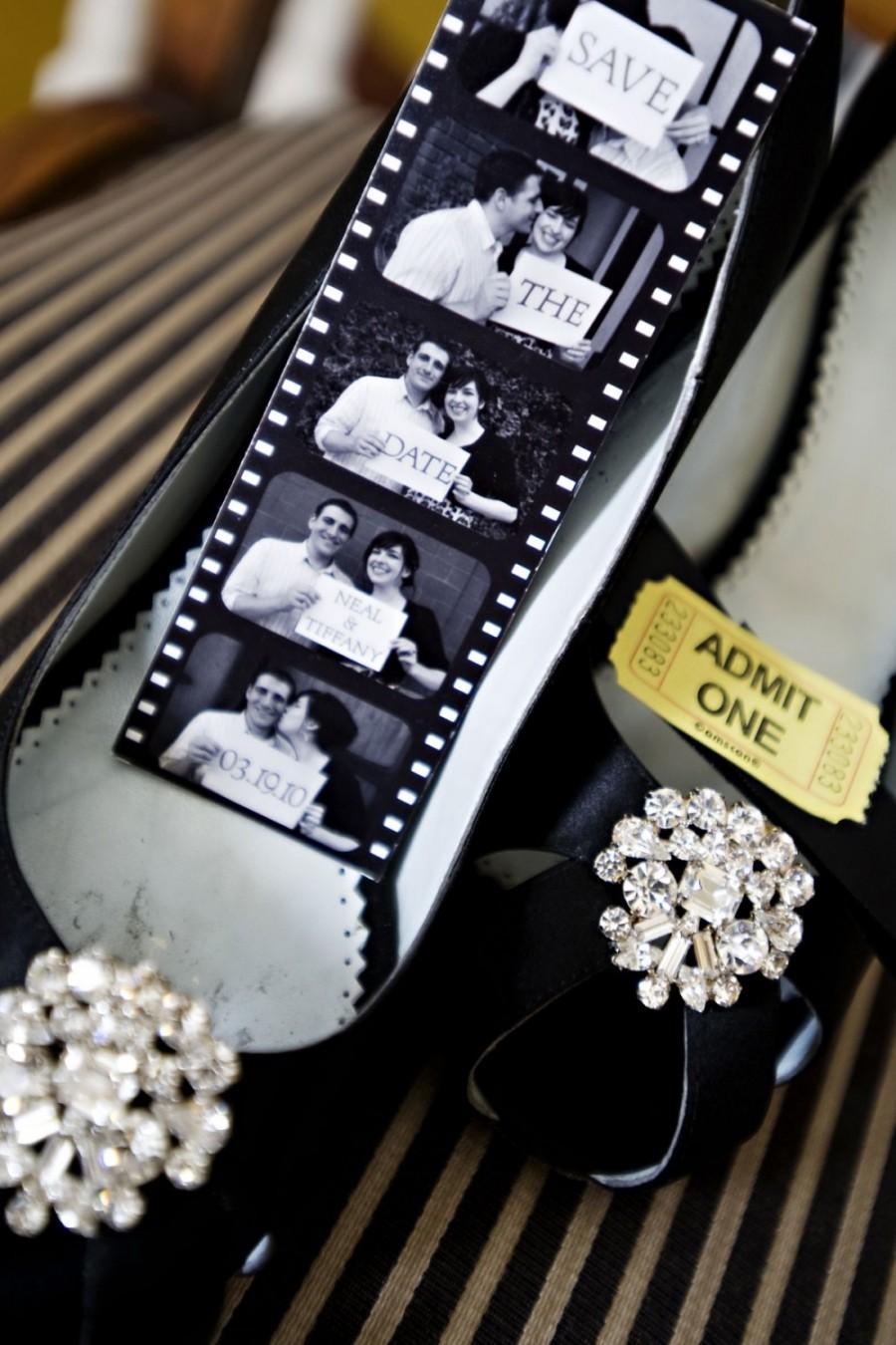 زفاف - Save The Date Photo Booth Film Strip Magnet