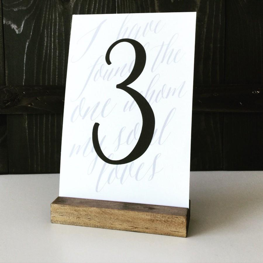 Table number holder wood sign holder menu holder wood for Table number holders
