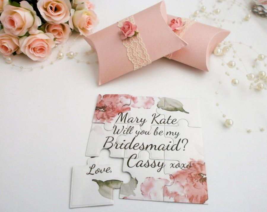 Bridesmaid invitation will you be my bridesmaid wedding invitation bridesmaid invitation will you be my bridesmaid wedding invitation flower girl made of honor gift puzzle proposal card stopboris Image collections