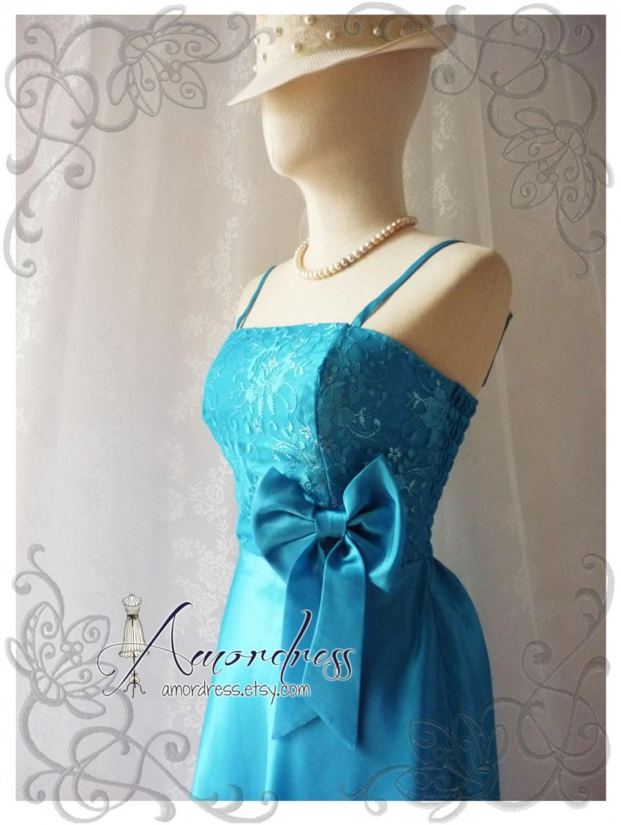 Свадьба - 40%OFF SALE Blue Bridesmaid Dress Gorgeous Party Prom Bridesmaid Wedding Cocktail Dinner Evening Cheap Party Dress