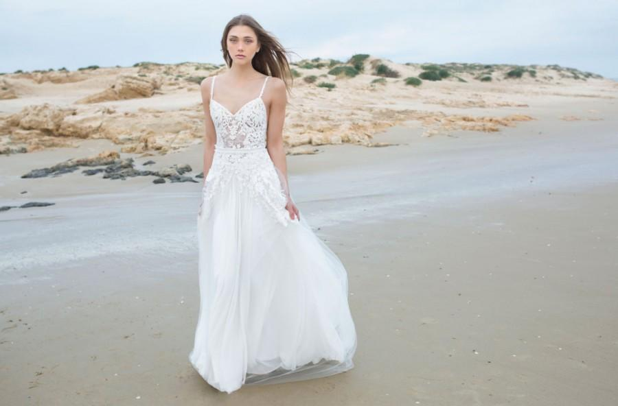 Lace & Tulle Wedding Dress, New 2016 Stunning Boho Wedding Dress ...