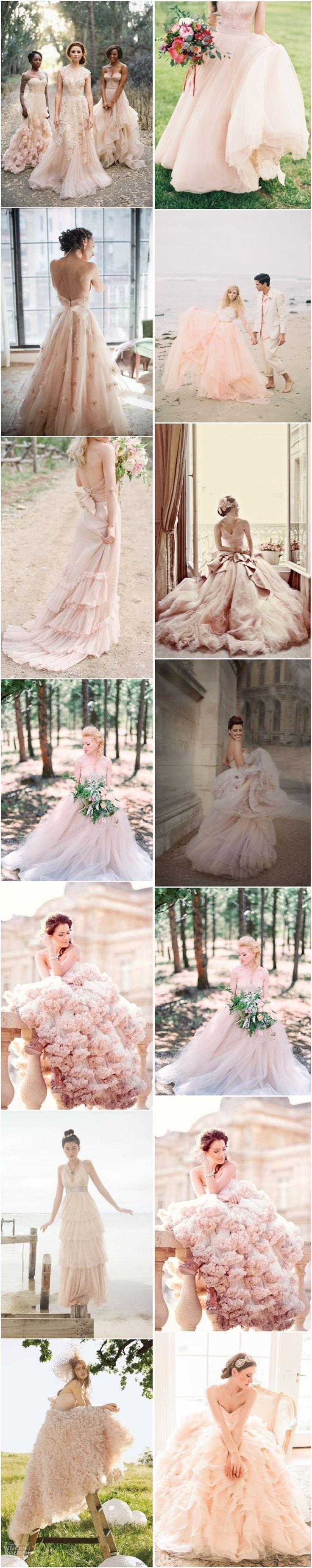 Wedding - 15 Sweet Peach & Blush Wedding Dresses