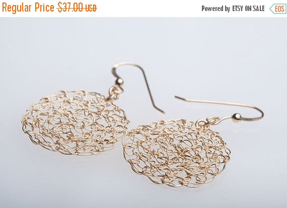 Mothers Day Sale Goldfilled Crochet Earrings Handmade Jewelry