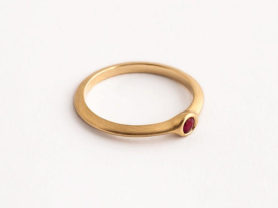 Wedding Band For Ruby Ring