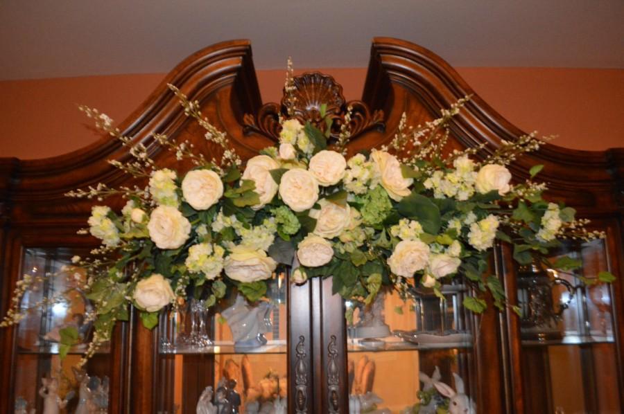 Hochzeit - Wedding Arch, Archway Swag, Wedding Ceremony Swag, Arbor Arch, Church Ceremony Swag, Large Arch Swag, XL Archway Swag