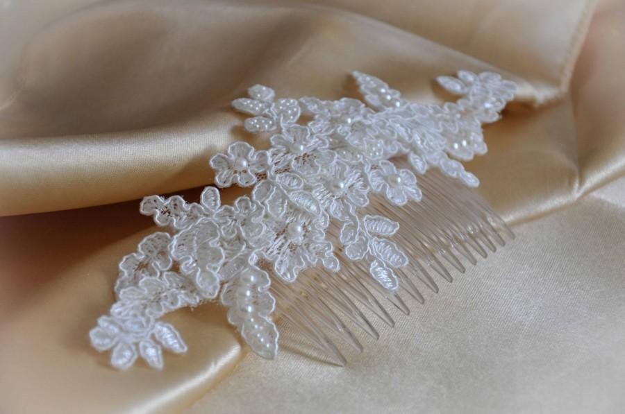 Wedding Comb Lace Hair White Pearl Accessories Bridal