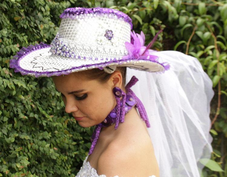 Mariage - Jubilate Hat Veil - Bridal Veils And Headpieces - Shabby Chic Wedding - Rustic Wedding - Wedding Headpiece - Purple Wedding
