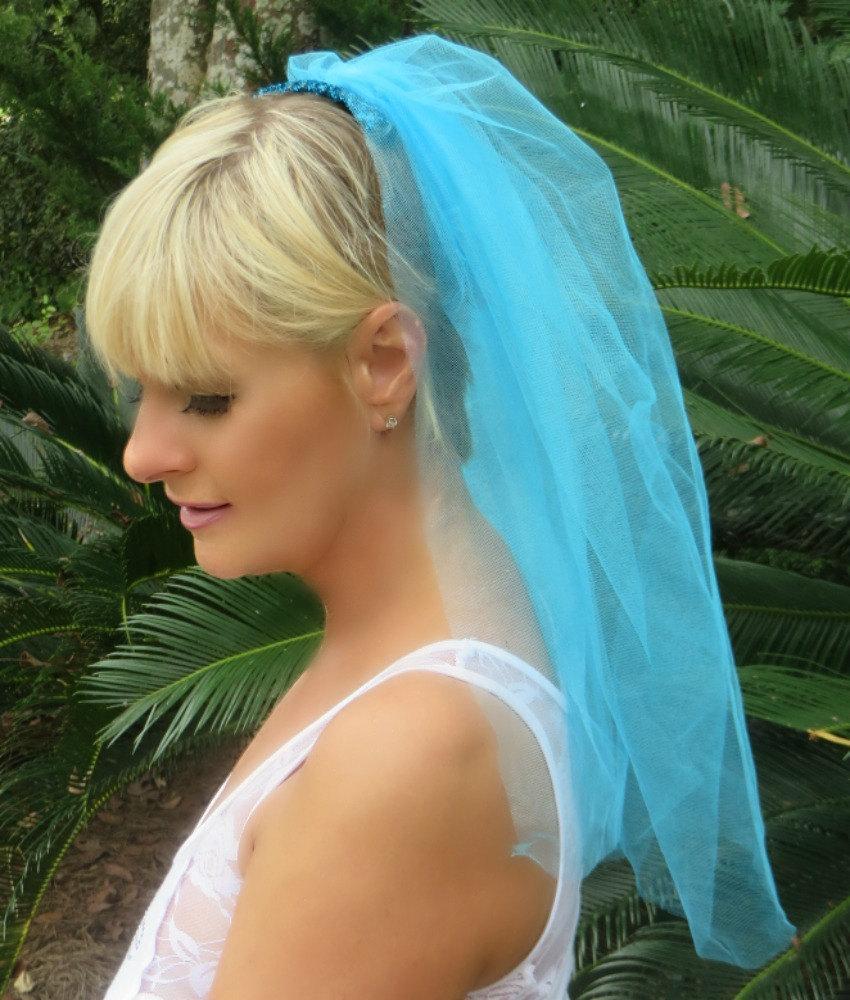 Hochzeit - Scintillating Bachelorette Party Veil - Bride to Be Veil - Bridal Shower Veil - Bachelorette Accessories - Hen Party - Bride Veil