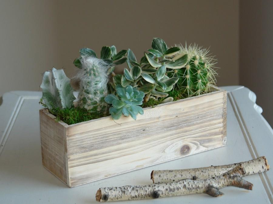 Свадьба - wood box wood boxes woodland succulents planter flower pot rectangular vases wedding wooden boxes rustic chic wedding
