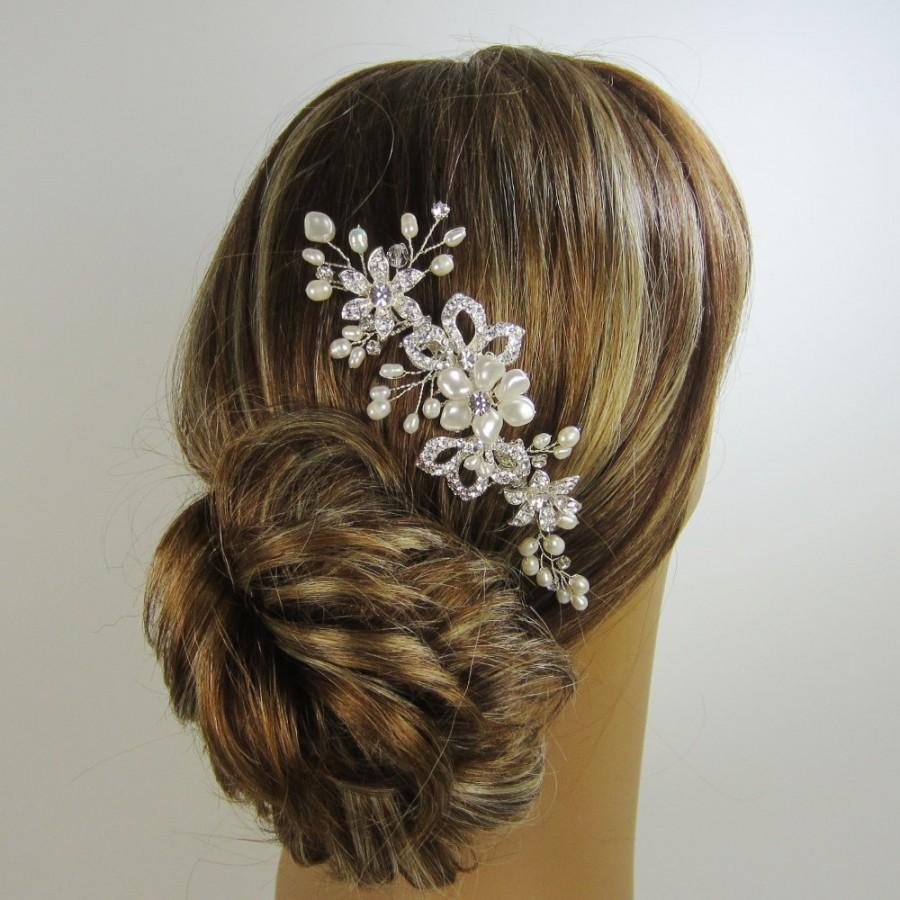 زفاف - Crysta Bridal Hair Comb, Ellie Hair Comb, Bridal hair comb, Wedding hair accessories, Bridal Headpieces, Rhinestone hair comb bridal