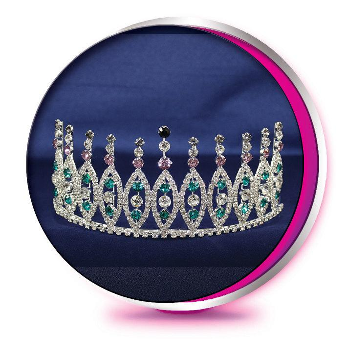 Свадьба - The Mardi Gra New Orleans - Rhinestone Tiara - Pageant, Wedding, Prom, Homecoming, or Bridesmaid Crown