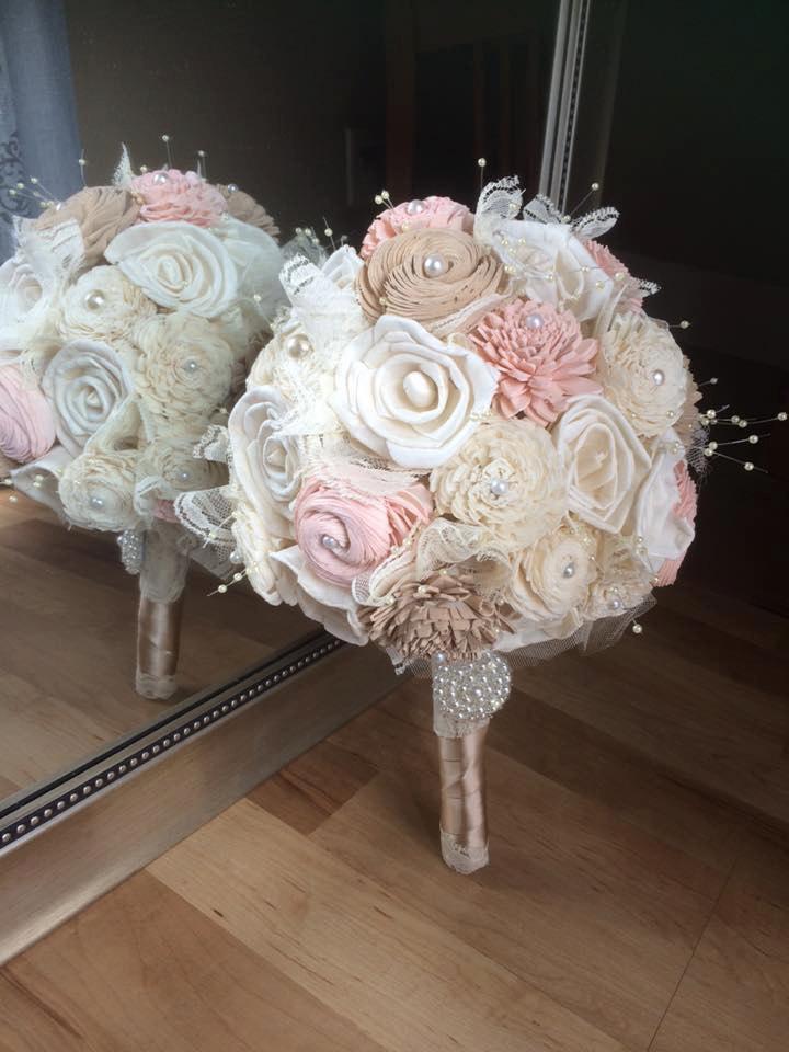 Свадьба - Vintage Wedding Bouquet, Sola flowers, Alternative bouquet, Classic wedding bouquet, Bridal bouquet, Bridesmaid bouquet, Champagne, Blush