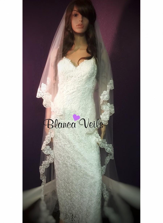 Wedding - Cascade Cut Soft Drop Veil