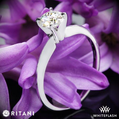 زفاف - Platinum Ritani 1RZ7286 Solitaire Engagement Ring