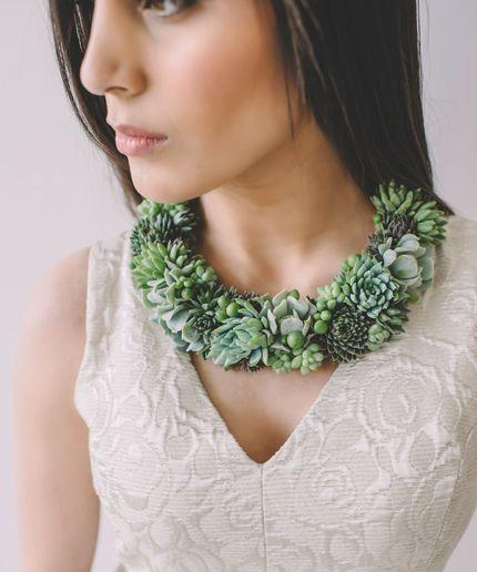 Wedding - This Accidental Florist Makes Gorgeous Living Jewelry (No Watering Needed)