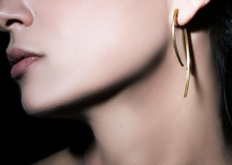 زفاف - Free shipping, Bridal earrings, ear jacket earrings, jewelry, handmade jewelry, drop earrings, gold earrings,