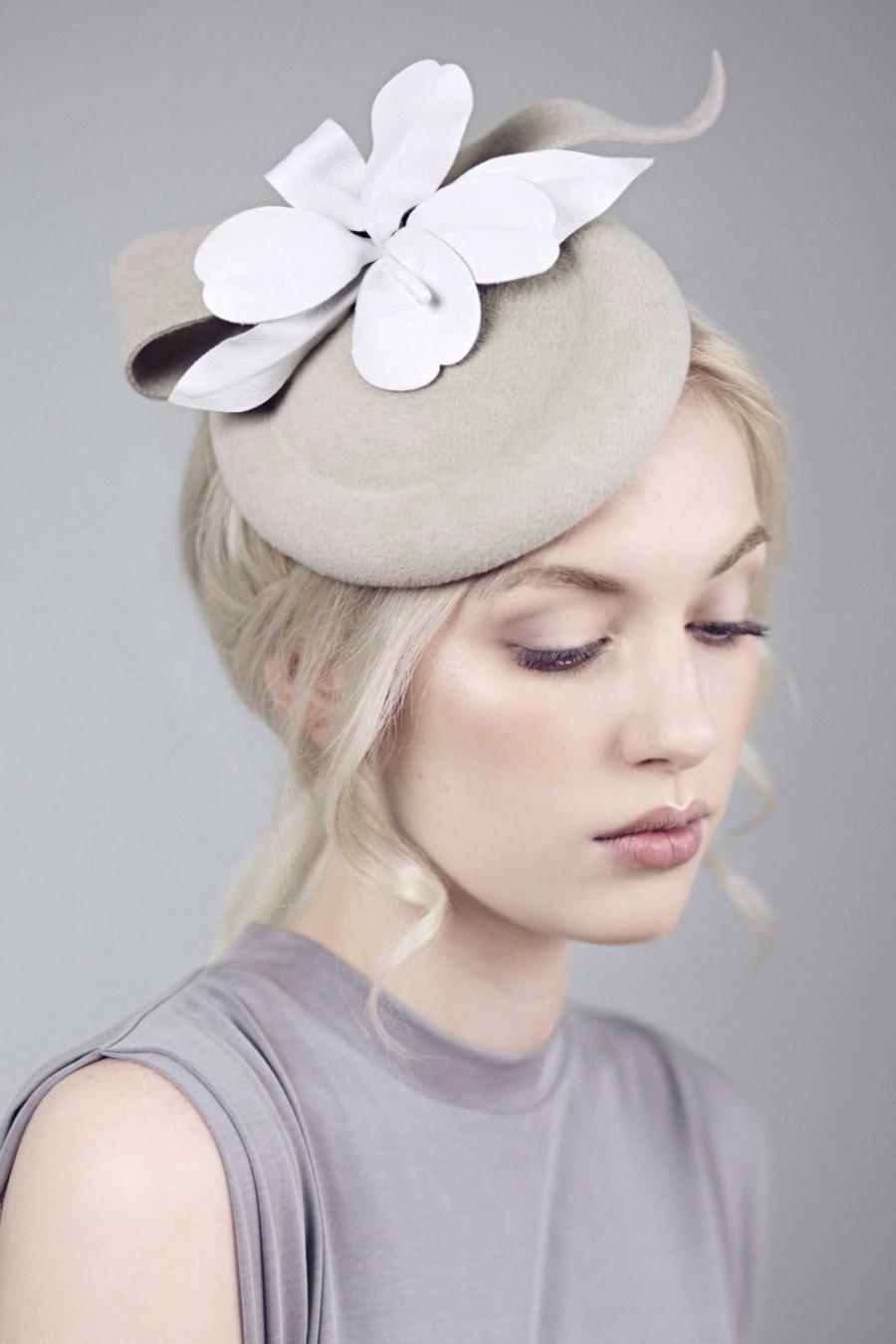 af702bcab7fff Races Hat, Mini Hat, Flower Fascinator, White Orchid, Wedding Hatinator,  SS2016 - Artemesia