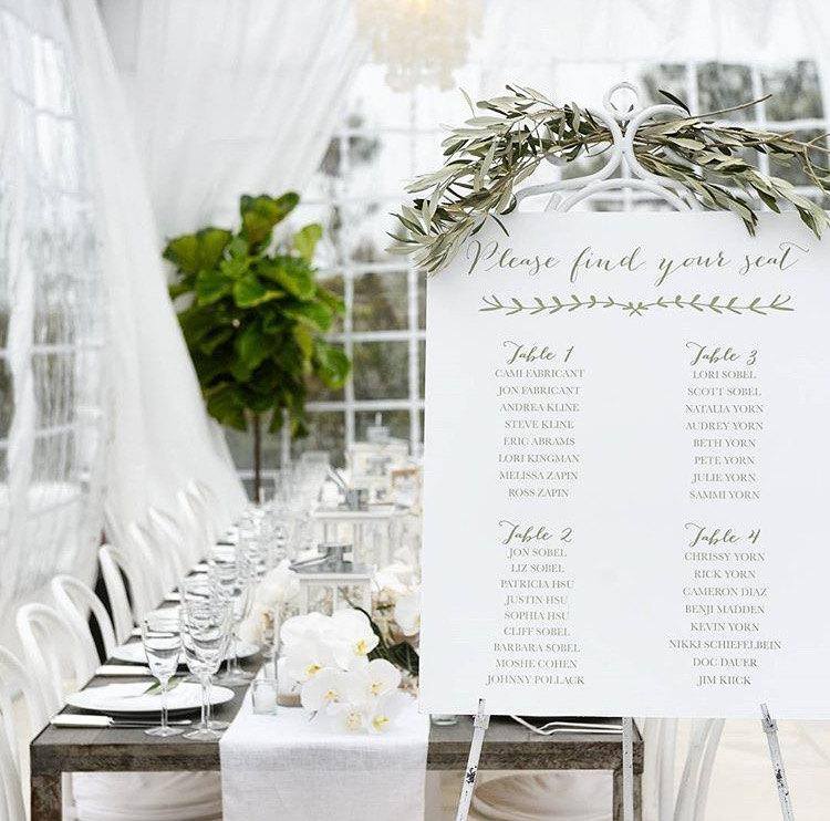 Свадьба - Custom Designed Wedding Wedding Seating Chart, Simple Elegant Seating Chart for your Special Event