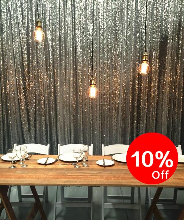 10 silver sequin backdrop party sparkly backdrop photo
