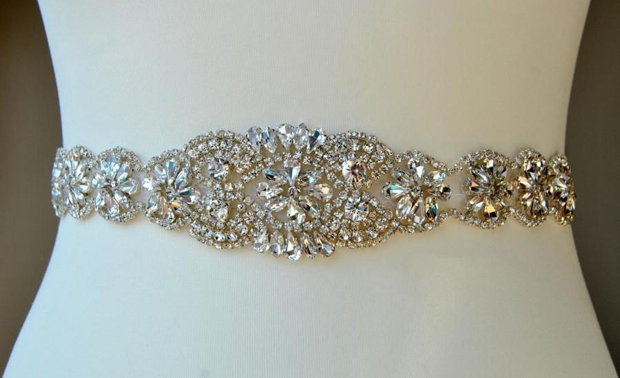 زفاف - Wedding Dress Sash Belt, Luxury Crystal Bridal Sash, Rhinestone Sash,  Rhinestone Bridal Bridesmaid Sash Belt, Wedding dress sash