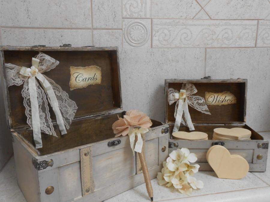 wedding card box wedding wishes box rustic wedding card box