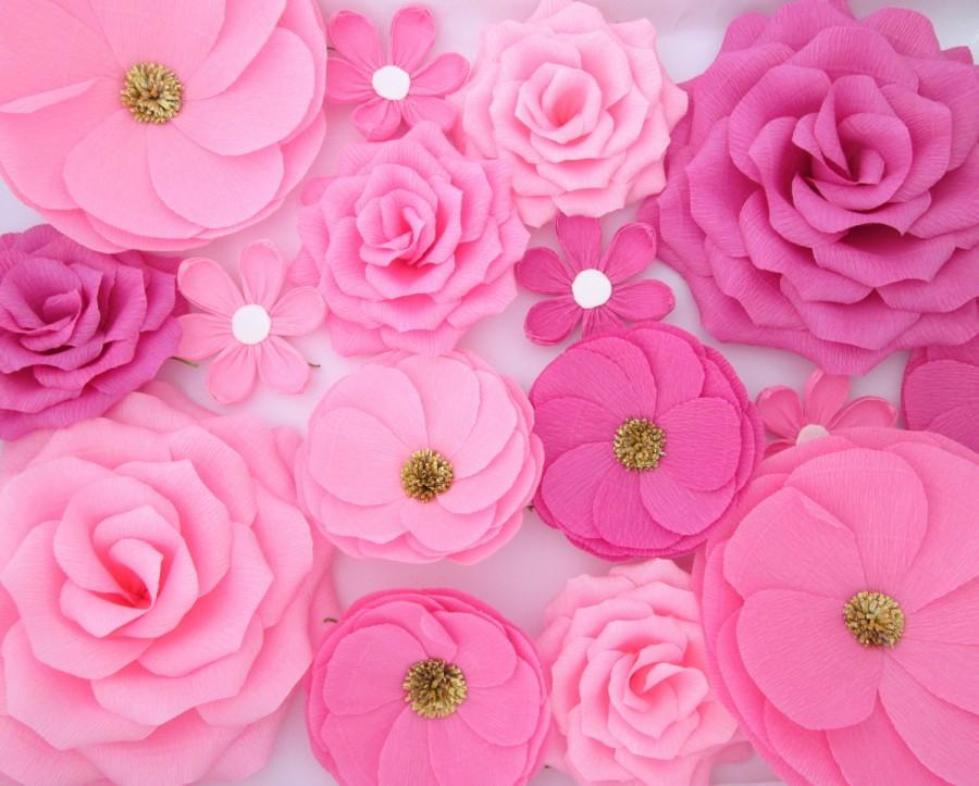 16 paper flowers wall flowers arch flowers wedding decoration 16 paper flowers wall flowers arch flowers wedding decoration large flowers party decoration baby shower decorations nursery wall mightylinksfo