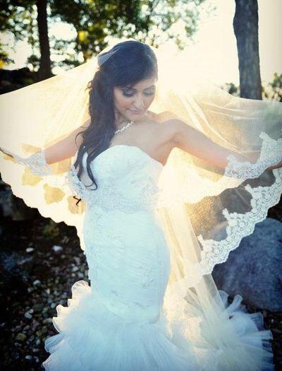 Свадьба - Lace Drop Veil