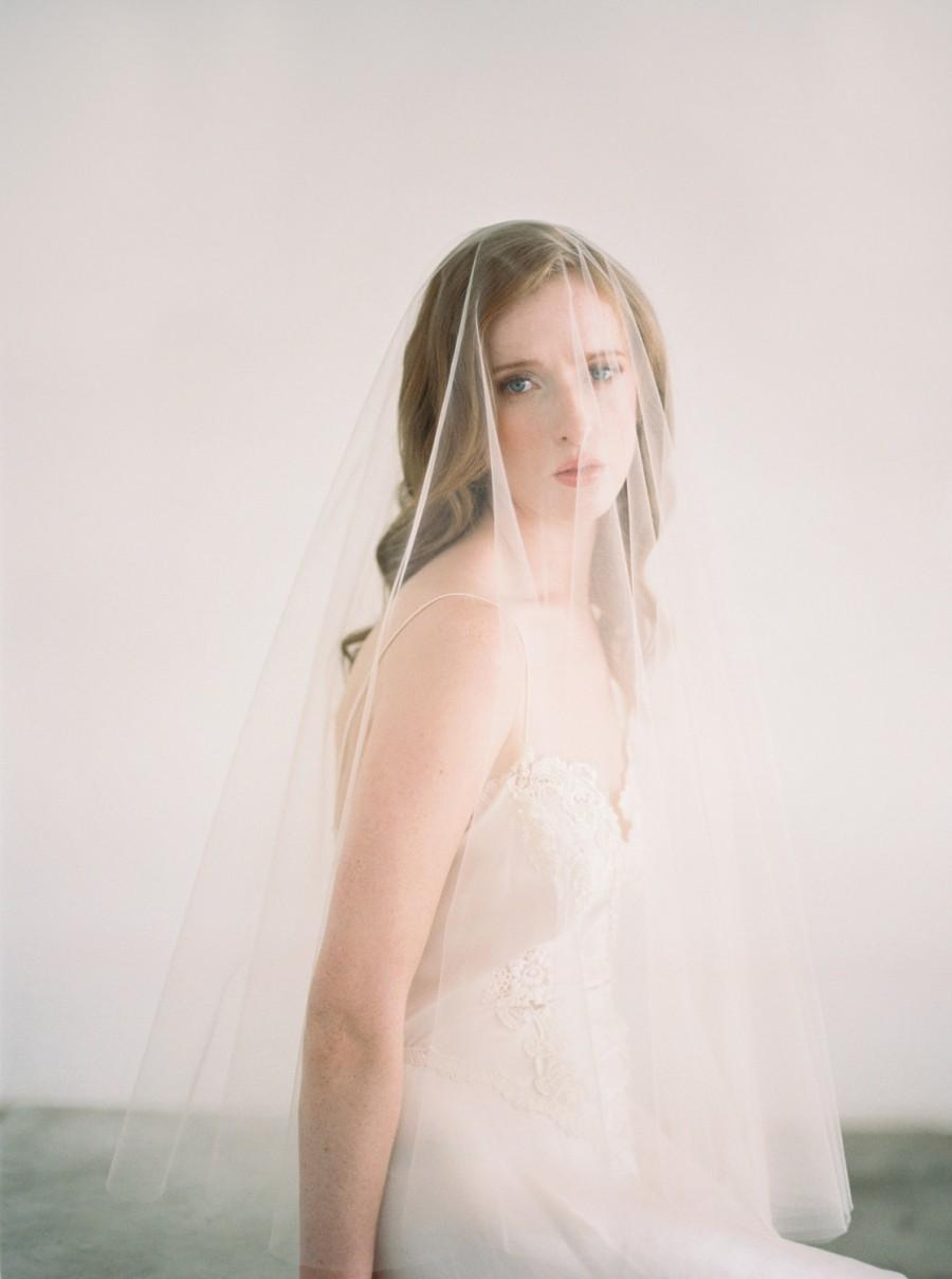 Свадьба - Amanda, Wedding Veil with Blusher, Drop Veil, Circle Veil Two Tier Bridal Veil, Drop Wedding Veil, 2 tier fingertip veil, Drop Veil
