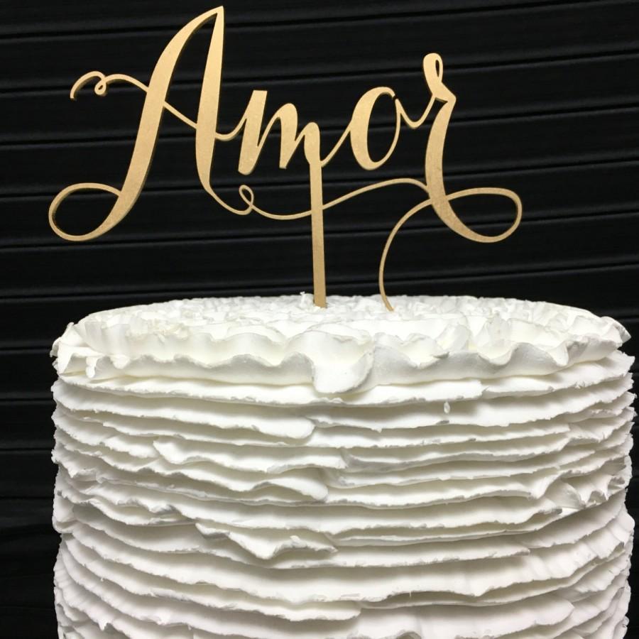 Hochzeit - Amor Cake Topper, Wedding Cake Topper, Cake Topper Wedding, Engagement Cake Topper, Bridal Shower Cake Topper, Anniversary Cake Topper