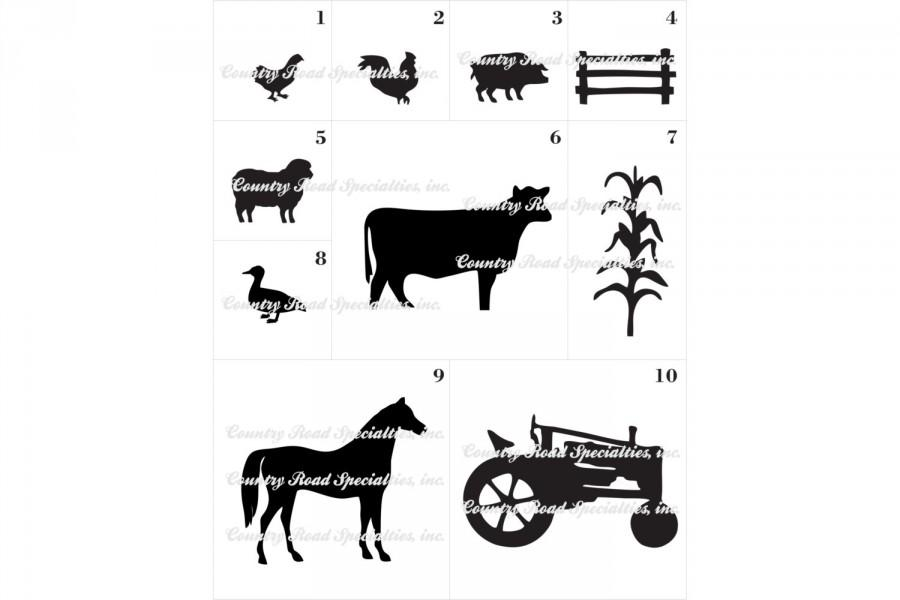 Hochzeit - Farm Pets, Animals, Equiptment, Tractor Silhouette add on Cake Topper Made In USA...Ships From USA