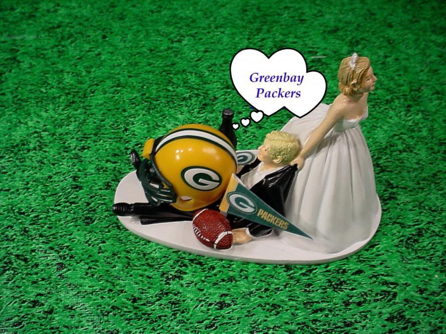 Green Bay Packers Football Fan Sports Bride Dragging Blonde Hair ...