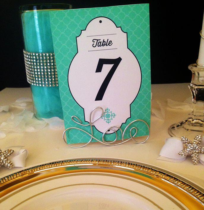 """Свадьба - 10 """"Love"""" Wire Table Number or Place Card Holders Perfect for Favors or Photo Frame or Holder Too!"""
