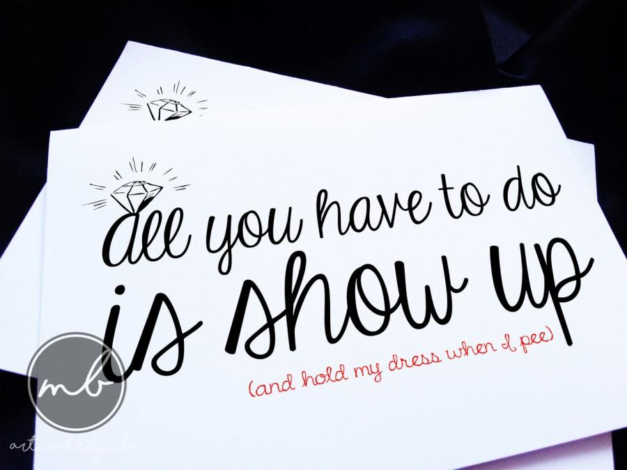 Funny Will You Be My Bridesmaid Card Maid Of Honor Ask Set