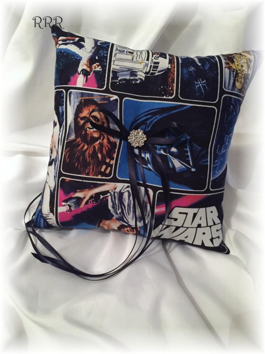 Hochzeit - Star Wars Wedding Ring Pillow, Fantasy Wedding