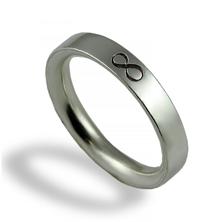 Charmant Infinity Wedding Band , Unique Wedding Ring , For Men , Sterling Silver ,  For Him , Commitment , Eternity Wedding Band , Exceptional Gesign
