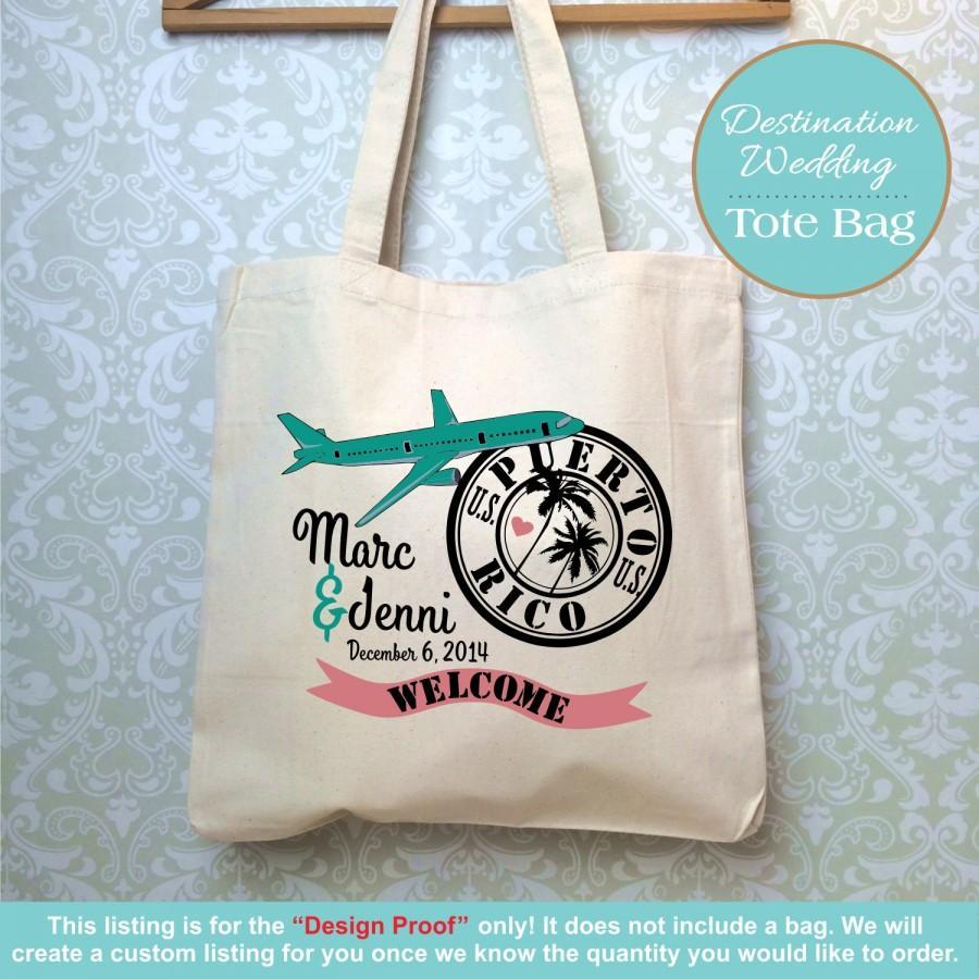 Do You Buy A Gift For A Destination Wedding: Destination Welcome Wedding Bag, Wedditing Tote Bag