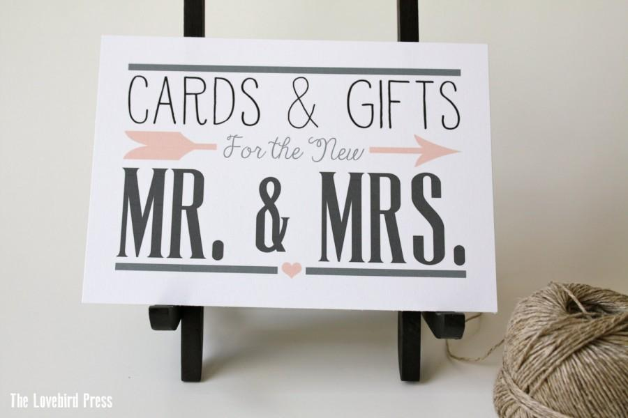 Printable Wedding Cards And Gifts Sign