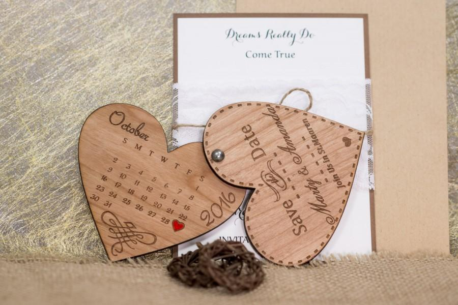 Wood Save The Date Magnets 10 Engraved Wooden Wedding Laser Cut Rustic Handmade