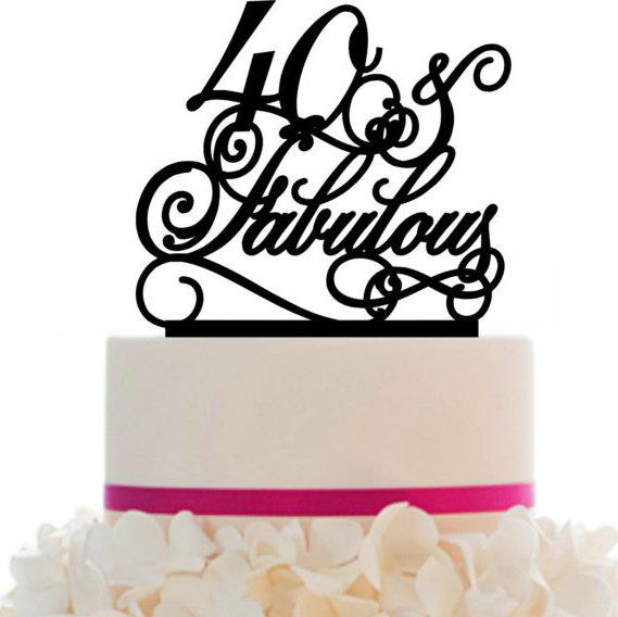 Wedding - Cake Topper Personalized 10 20 30 40 50 60 70 80 90 Birthday/Anniversary