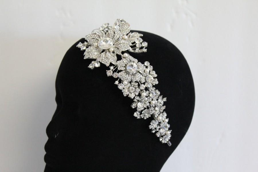 Mariage - Wedding Hair Accessories Bridal Hair Jewelry Wedding Headband Bridal Hair Accessories Wedding Fascinators Bridal Headband Wedding Hair Combs