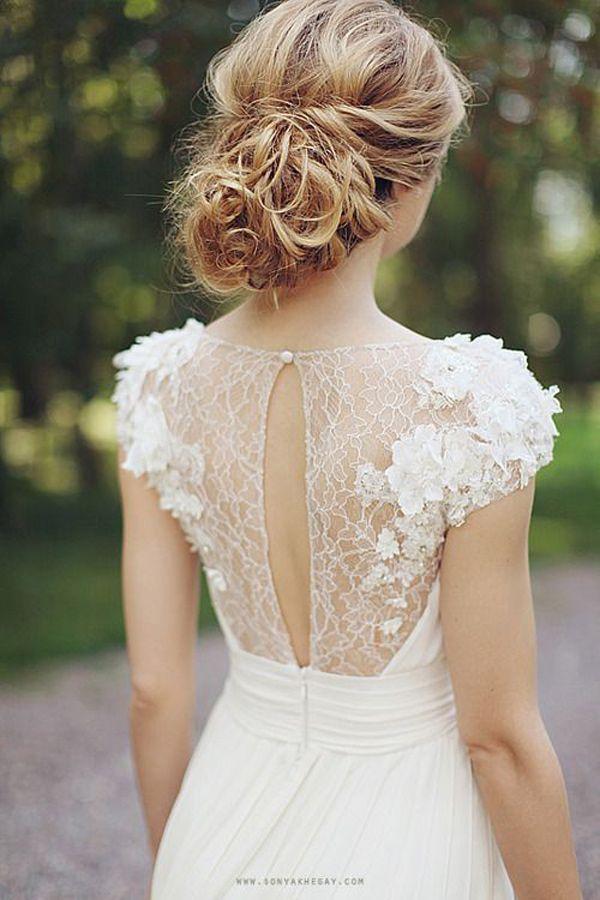Wedding - Illusion Neckline Wedding Dresses